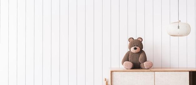 Ściana dzieci. projekt wnętrza pokoju dziecięcego w nadmorskim wnętrzu
