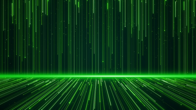 Ściana linii struktury geometryczne kształty i cząstki kolor zielony. kreatywnie projekta elementu abstrakta tło.