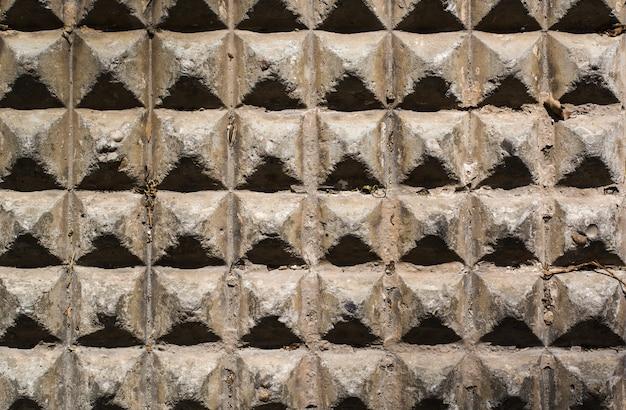 Ściana piramidy betonowej