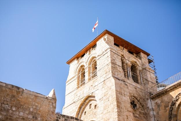 Ściana płaczu i kopuła na skale na starym mieście