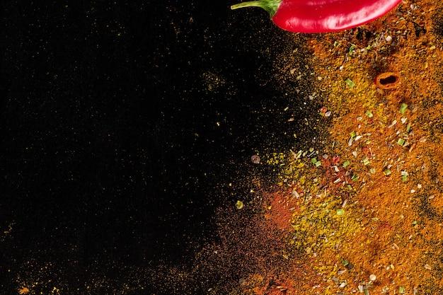 Ściana przyprawy curry