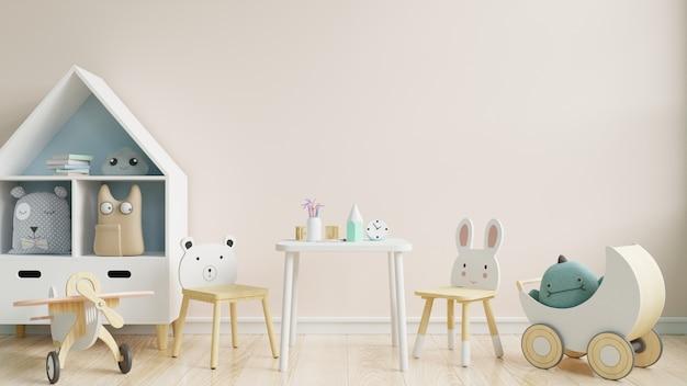 Ściana w pokoju dziecięcym w tle białej ściany.
