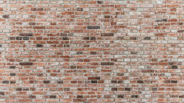 Ściana z cegieł czerwonego koloru
