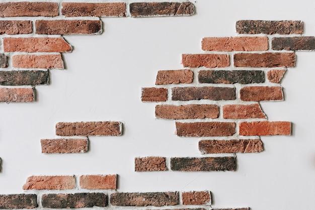 Ściana z cegieł jako tło lub tapeta