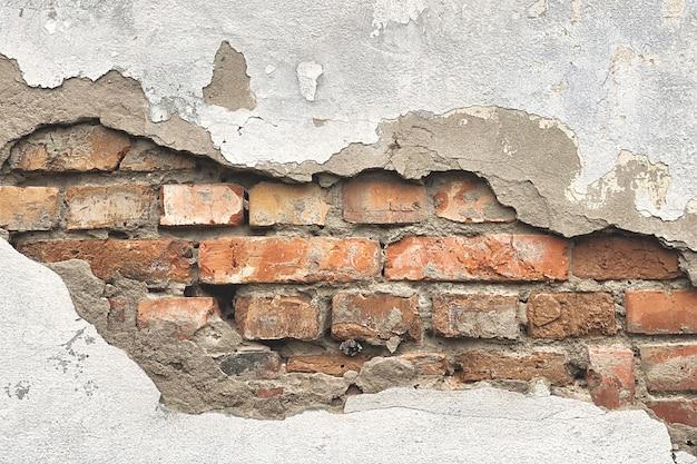 Ściana z cegły tłem. stare tekstury ścian.