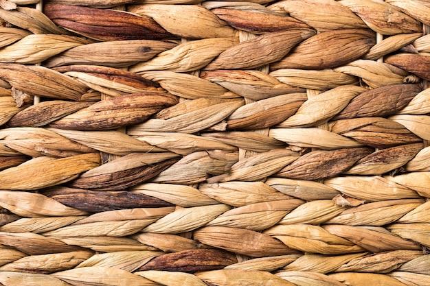 Ściana z wikliny. zbliżenie tekstury wikliny.