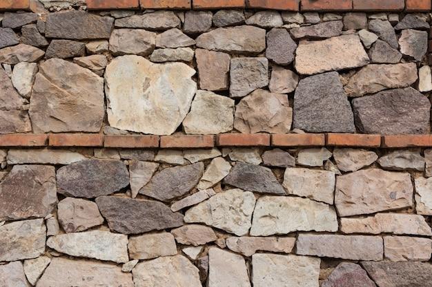 Ściany wykonane z kamieni i cegieł