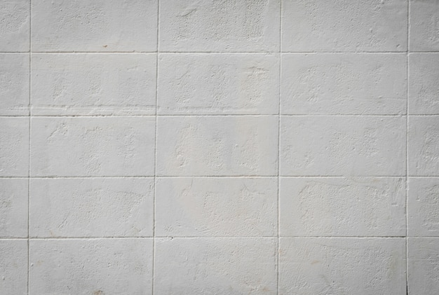 Ściany z białych kafli