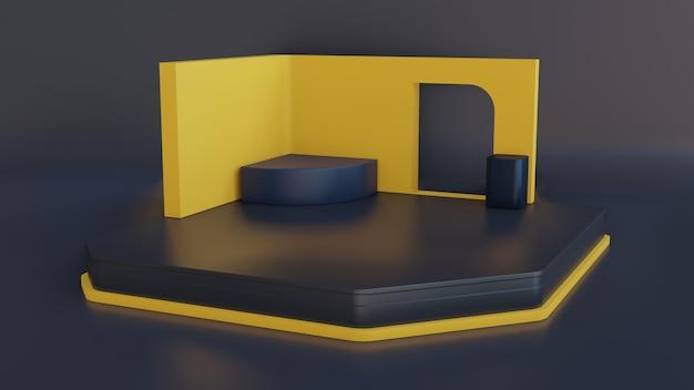 Science fiction futurystyczna scena 3d studio do wyświetlania produktu