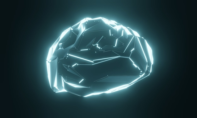 Science fiction sztuczny ludzki mózg.