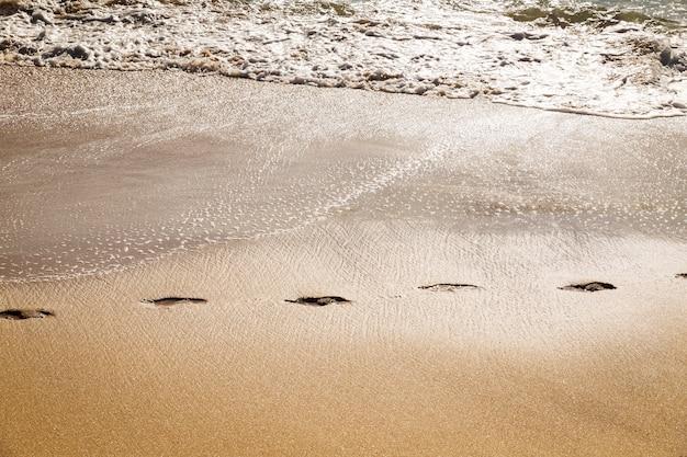 Ścieżka ścieżka w piasku plaży