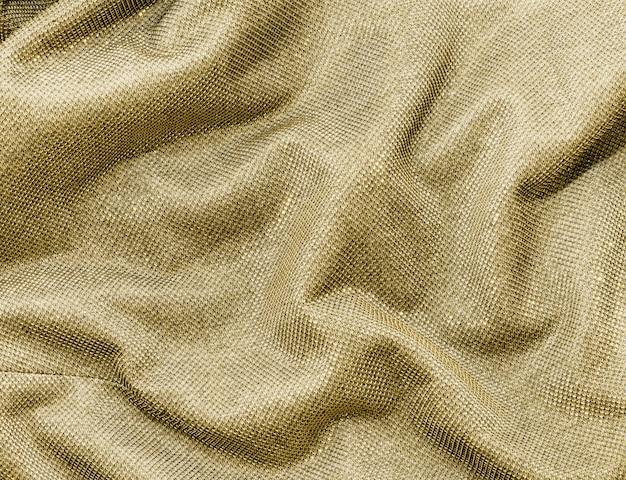 Scrunched złota tkanina