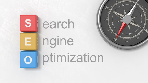 Search engine optimization, ilustracja koncepcja seo