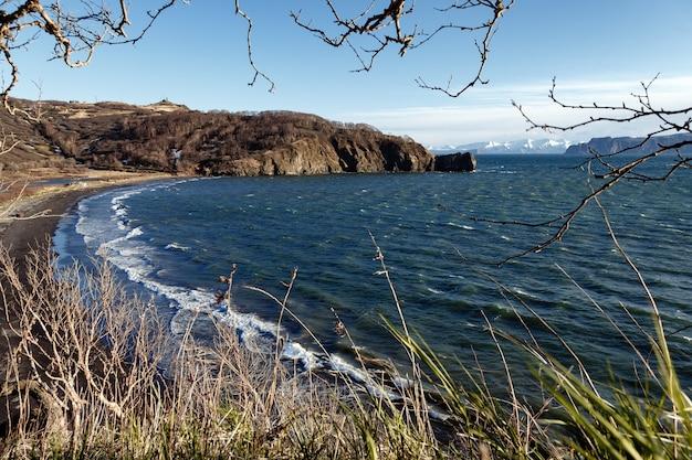 Seascape piękny wiosenny widok na pacyfik