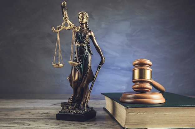 Sędzia w sprawie książki i sprawiedliwości pani na stole