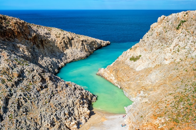 Seitan limania plaża na krecie, grecja
