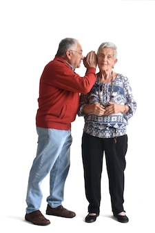 Sekrety na starość na białym tle