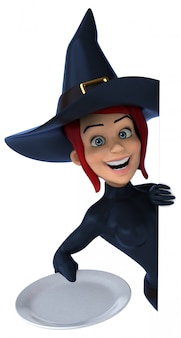 Seksowna czarownica - 3d ilustracja
