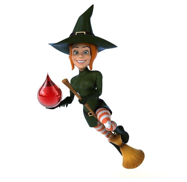 Seksowna czarownica - ilustracja 3d