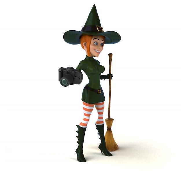 Seksowna czarownicy 3d ilustracja