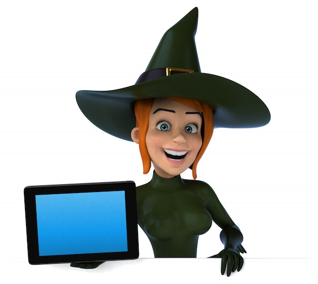 Seksowna wiedźma - postać 3d