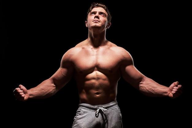 Seksowny fitness mięśni człowieka
