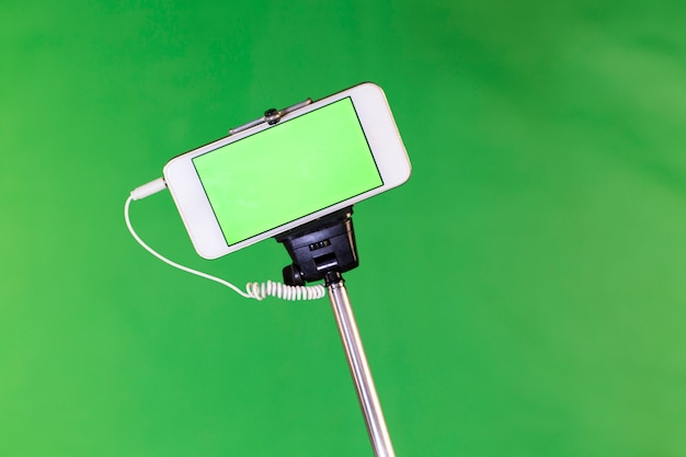 Selfie stick na zielono