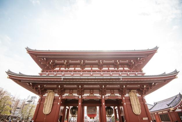Senso-ji rozciągacz, sławna świątynia w tokio, japonia.