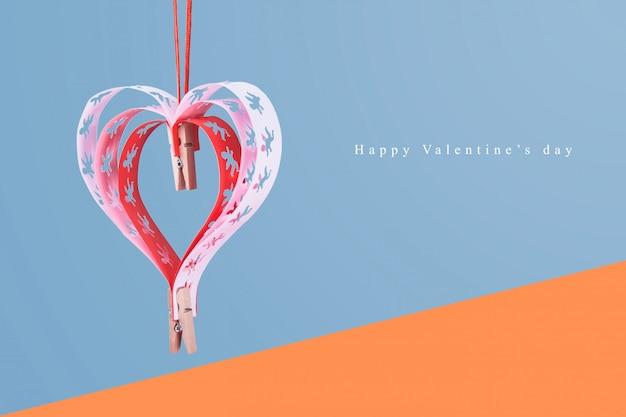 Serca z aniołami dobra karta gratulacyjna szczęśliwy dzień valentain.