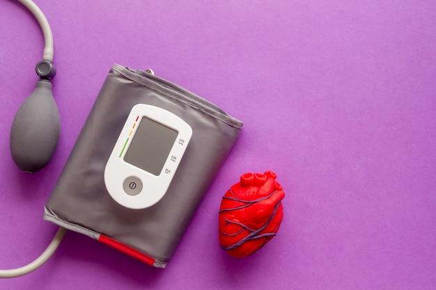 Serce anatomiczne człowieka wykonane z plasteliny z tonometrem