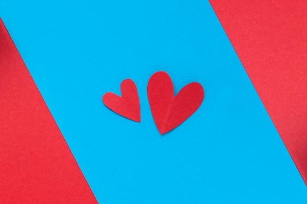 Serce na niebieskim tle