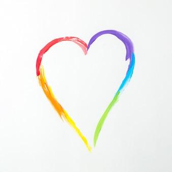 Serce w kolorach lgbt