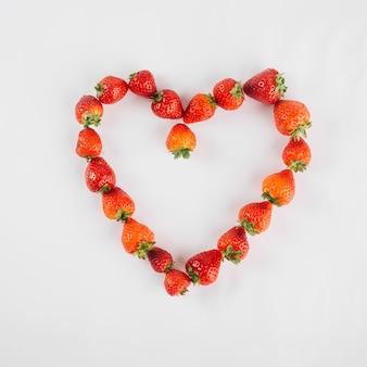 Serce z truskawek