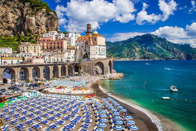 Seria bella italia, wioska atrani, wybrzeże amalfi