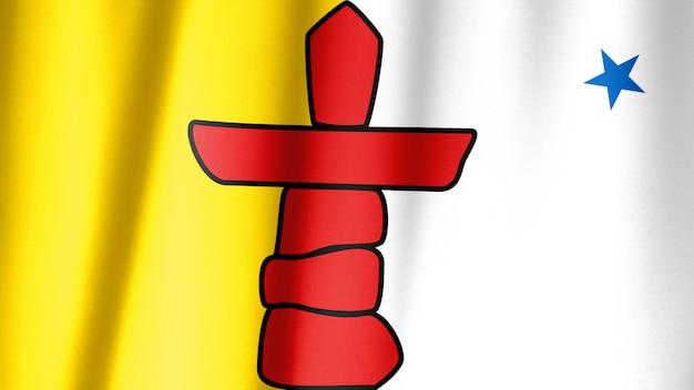 Seria flag prowincji kanadyjskich - nunavut