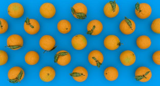 Serie pomarańcze na błękitnym tle