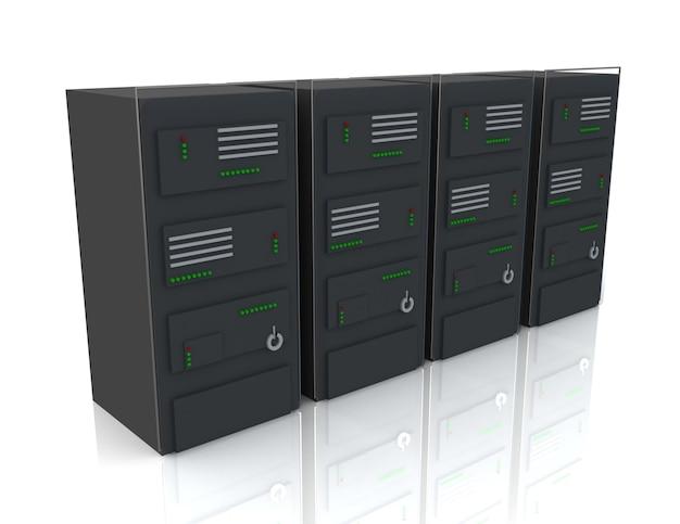 Serwery sieciowe w centrum danych. koncepcja internetowa