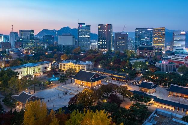 Seul city skyline