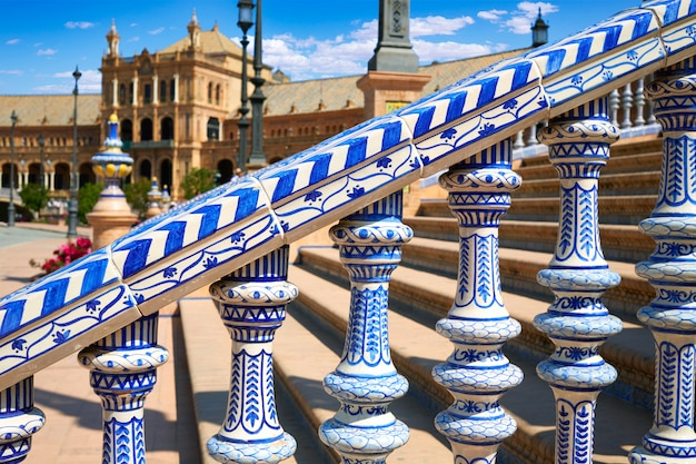 Sevilla plaza de espana andaluzja w hiszpanii