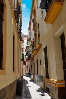 Sevilla starego miasta w pobliżu calle agua vida st hiszpania