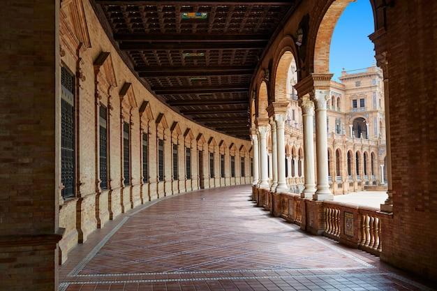 Sewilla sewilla plaza de espana arkadowy plac andaluzji hiszpanii