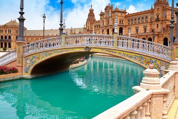 Sewilla sewilla plaza espana andaluzja hiszpania