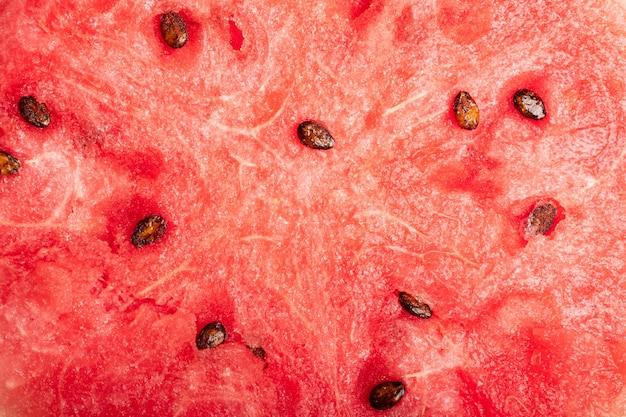 Sezonowe jagody cięcia arbuza zbliżenie czerwony słodki miąższ arbuza