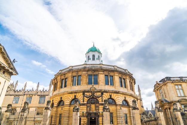 Sheldonian theatre w oksfordzie - anglia, wielka brytania