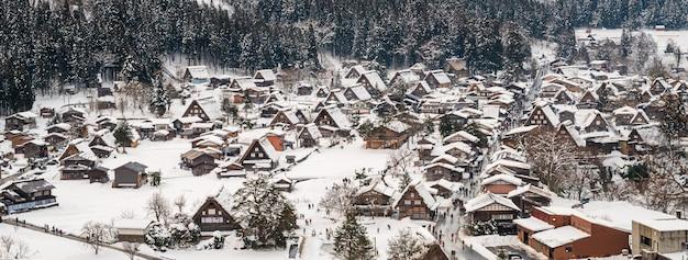 Shirakawa-go z snowfall gifu chubu japan,