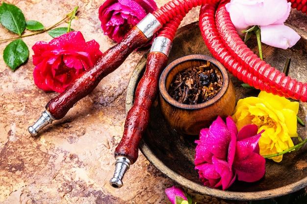 Shisha z różanym tytoniem