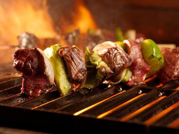 Shishkababs wołowe z grilla