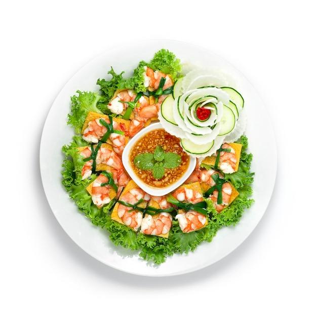 Shrimps bite salad goi tom tradycyjne wietnamskie jedzenie
