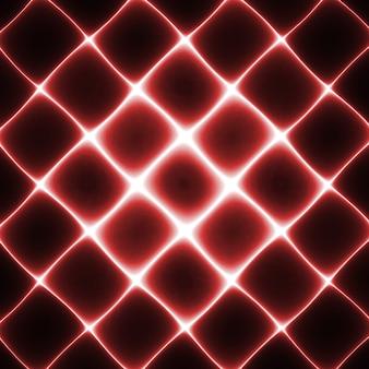 Siatka światła neonowego. streszczenie fraktalna