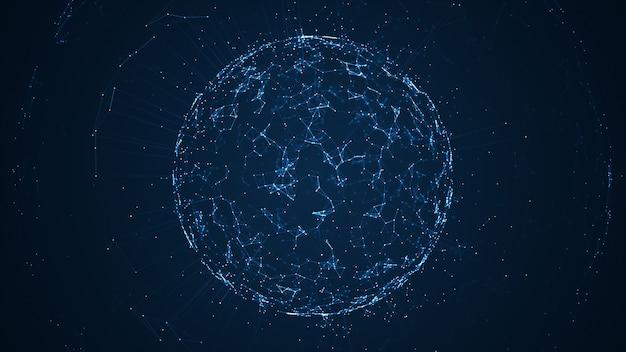 Sieć dużych zbiorów danych i ilustracja iot